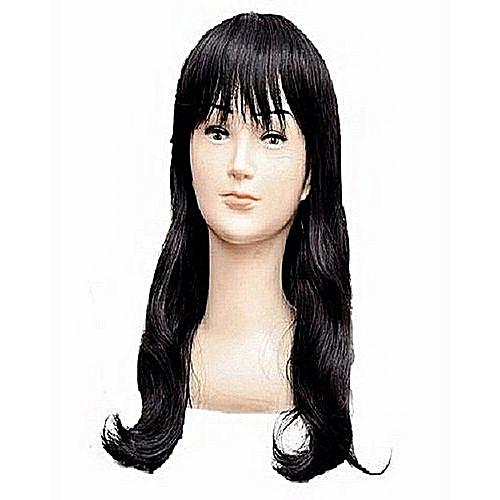 Trendy Black Fringe Wig
