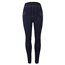 1fda96743 New. Ladies Jeggings Jeans With Stone Design-NavyBlue