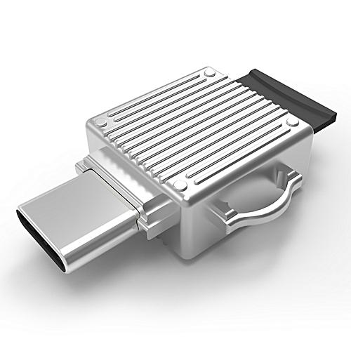 Aluminum Alloy Type-C Micro SD TF Memory Card OTG Card Reader For Type-C Phones Laptops