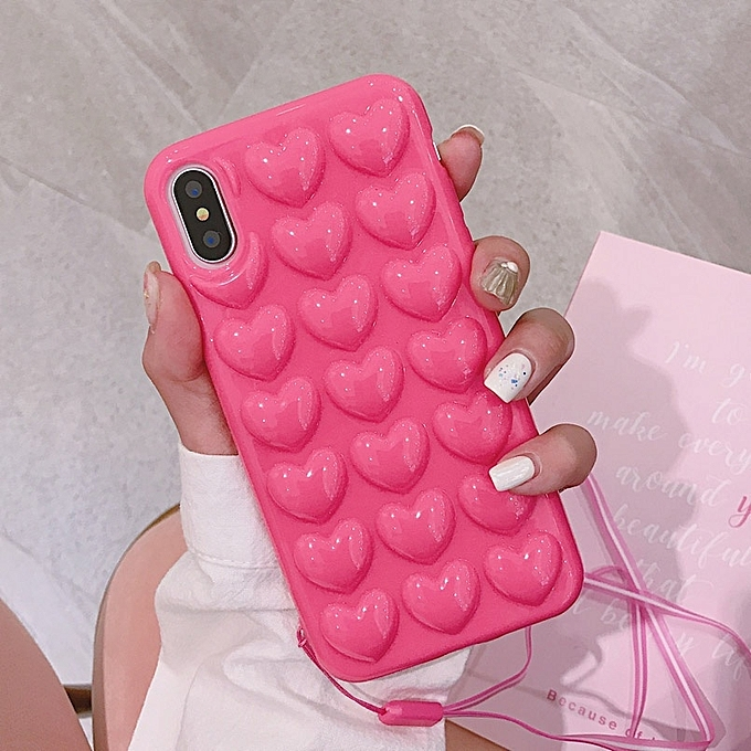 83e08bfe55 ... 3D Cute Love Heart Phone Case For IPhone X Cartoon Cases For IPhone 7 8  6 ...