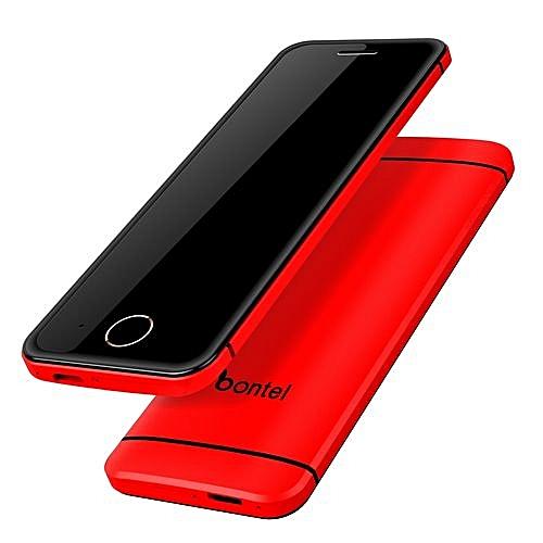 1baf1356b34 Bontel L2-Extra Slim Sleek Metal Body. Hidden Top HD Camera.Touch Screen.  Inbuilt Battery-Red