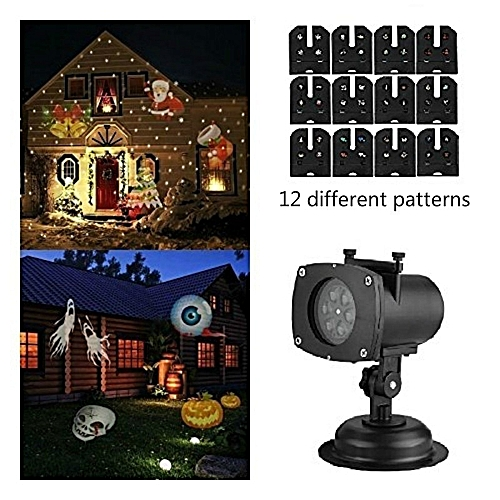 Christmas Laser Projector 12 Patterns Snowflake Led Laser Shower Christmas Lights Outdoor Garland Waterproof Star Projector ASQOB