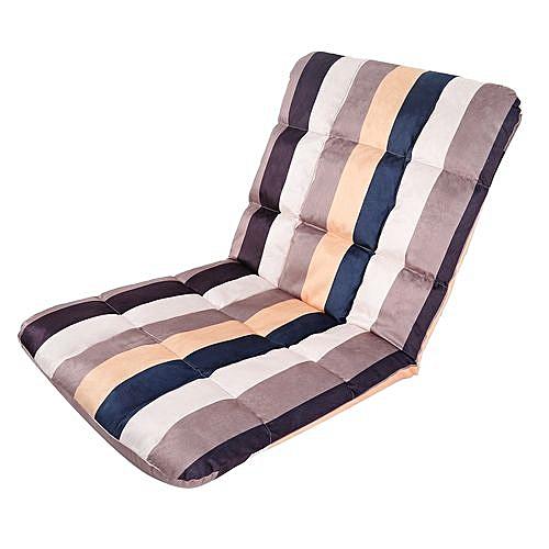 Folding Lazy Chair Cushion Sofa Bed - Stripe