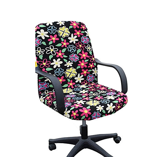 Removable Swivel Chair Cover Flower