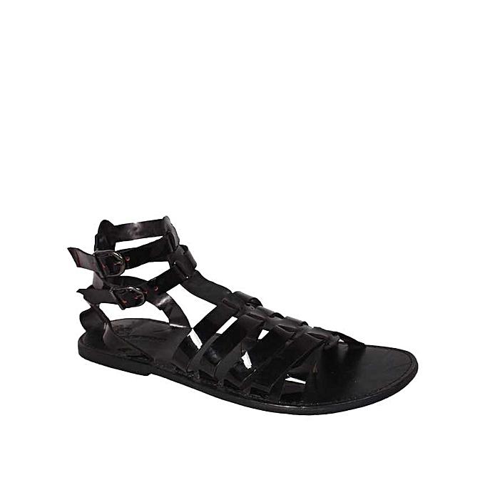 eb27cd6207f Eryk Diwe Men Roman Gladiator Sandals - Black