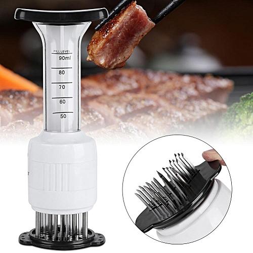 Hot Meat Marinade Tenderizer Needle Injector Steaks Flavor Syringe Cook Kitchen Tool