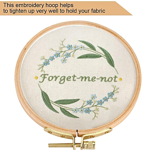 Hand Embroidery Hoop Wooden Circle Frame For Cross Stitch Embroider Needle Arts DIY Tool 10.5cm