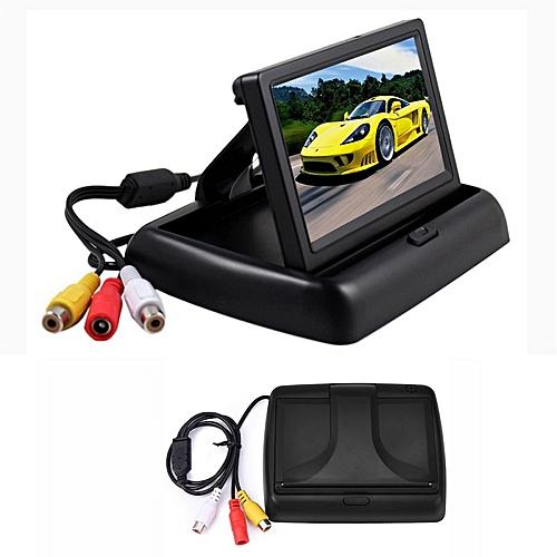 HANJIA 4.3 Inch TFT LCD Car Monitor Foldable Monitor Display Rearview Monitors