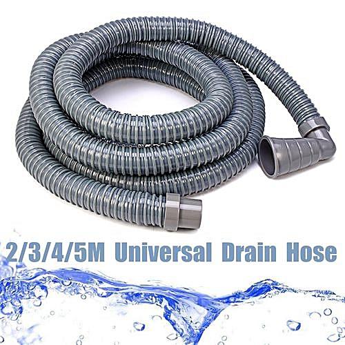 Length Extension Flexible Water Pipe Drain Hose Washing Machine Bracket Kit # 5m