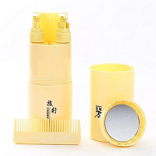 Honana Portable Travel Toothbrush Holder Wash Cup Case Toothpaste Storage Box Tube Storage Toothpaste Mirror Comb Shower Gel / Shampoo Bottle Organizer Container