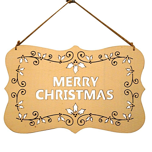 Merry Christmas Decorations Wooden Ornament Xmas Tree Hanging Frame Decor