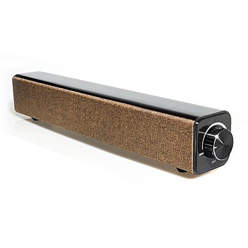 BT808 Wireless Bluetooth Soundbar Speaker Subwoofer Sound-BROWN