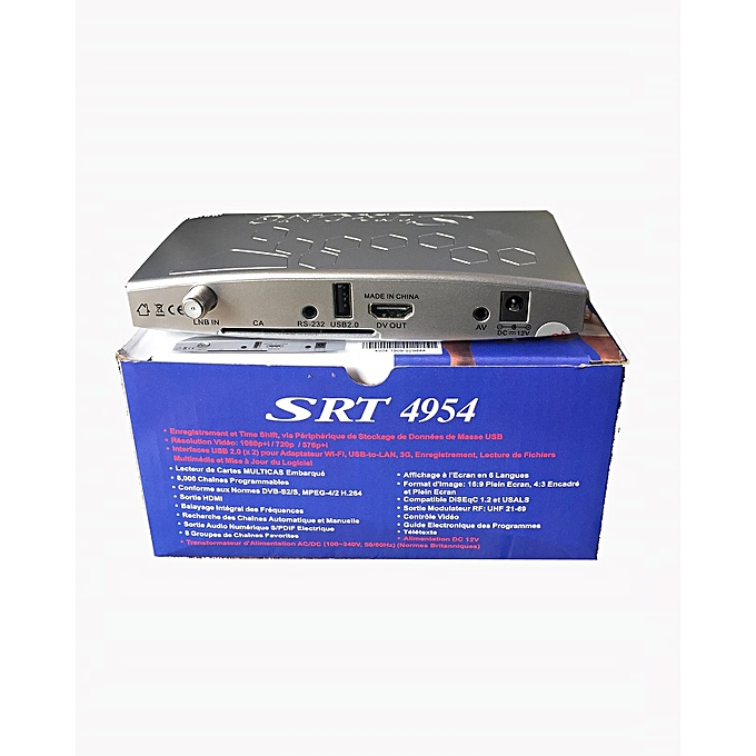 Strong HD Free To Air Decoder Srt 4954 Portable Free To Air Satelites Tv  Channel Receiver Compact