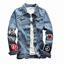 c6e7abafa3b8 Men Denim Jeans Jacket Jackets Coat Slim Fit Fashion