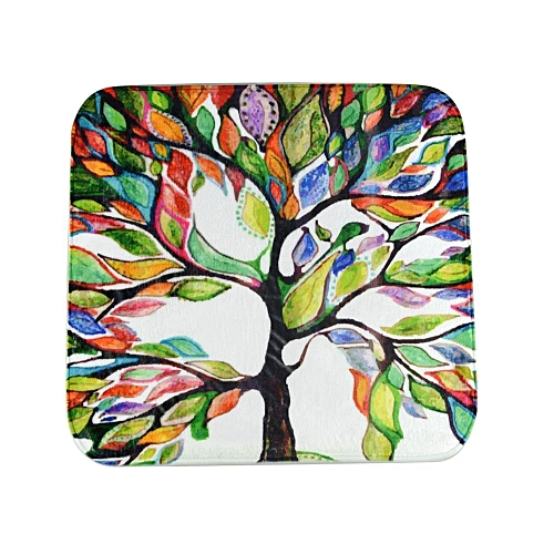 Colorful Tree Super Soft Non-Slip Bath Door Mat Machine Washable Quickly Drying