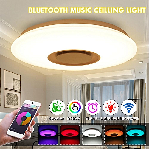24W LED Dimmable Bluetooth Speaker Lamp Ceiling Down Light Fixture APP Control