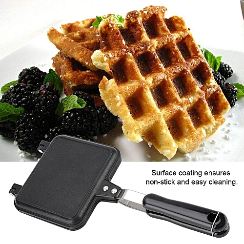 Aluminum Alloy Household Kitchen Gas Non-Stick Waffle Maker Pan Mold Cooking Baking Tool