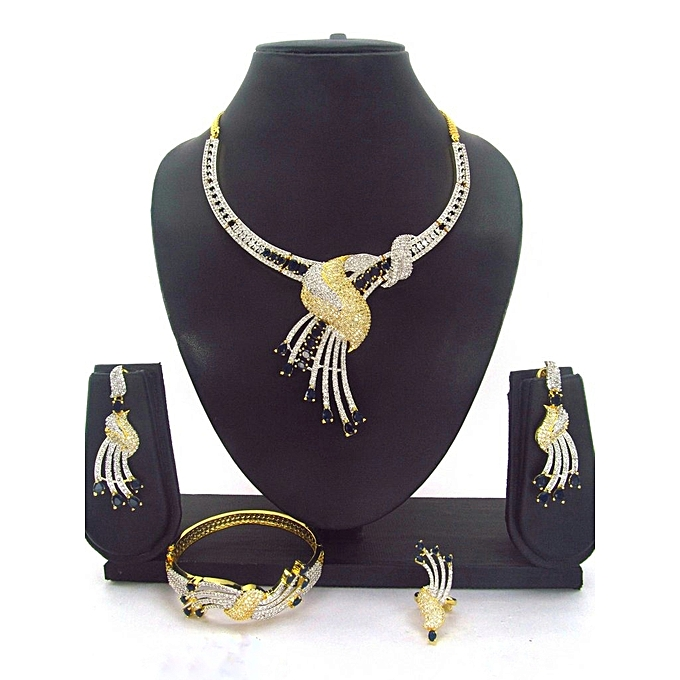 Cubic Zirconia American Diamond Jewelry Set