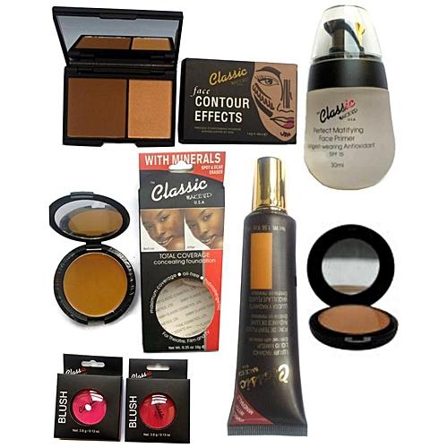 Classic Makeup Face Makeup Kit with Free Bag - Dark