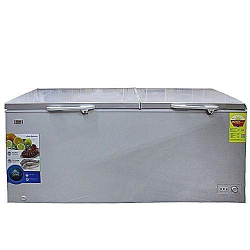 Double Door Chest Freezer FRZ FC 68DD - 520Liters-Silver
