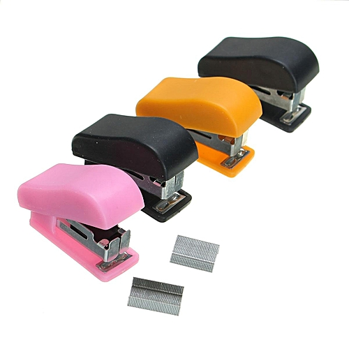 Mini Stapler With No.10 Staples Set Plastic Stapler Paper Mini Binder Office Accessories School Stationary Set Color Random