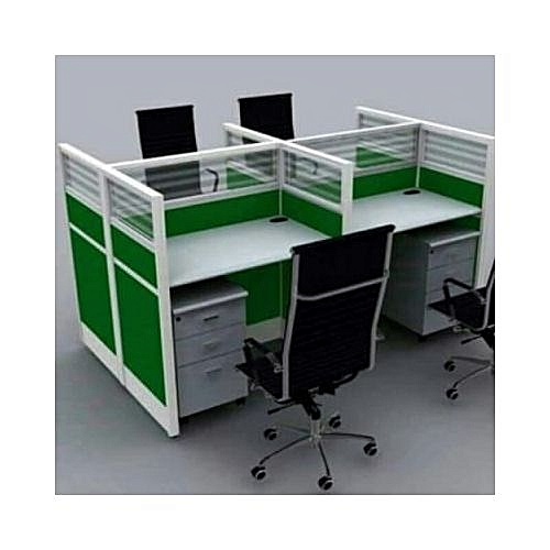 4-Seater Workstation - Green