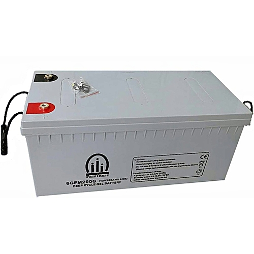 Famicare 200Ah GEL Deep Cycle Inverter Battery