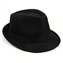 21eeedb3f10 Womenen  039 s Summer Beach Linen Fedoras Outdoor Travel Hats - Black