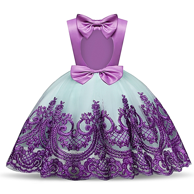 c6389459124f Baby Girl Infant Party Dress Little Girl Frock Toddler Girls Clothes  Children's Tutu Bow Decoration Costume