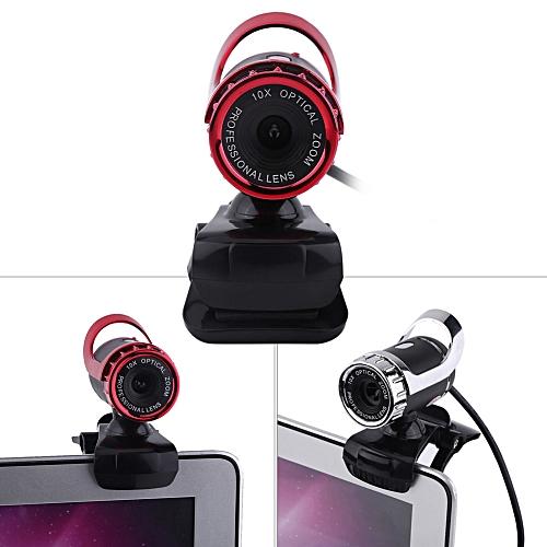 HD Web Camera Rotatable USB Computer Camera 12MP Video Recording Webcam Clip-on Cam