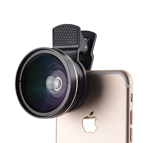 0.45X Large Wide Angle + Macro Mirror Surface 2-IN-1 Metal Clip Universal Mobile Phones Clip Wide-Angle Telescopes General HD Wide-Angle Telephoto Lens