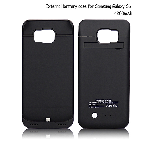 newest 25d50 1cc2d Power Bank Case For Samsung Galaxy S6 - 4200mAh