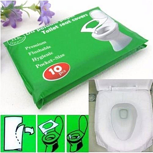 Hot Sale 10Pcs/lot High Quality Waterproof Sterilized Toilet Seat Paper Covers/Mat Disposable