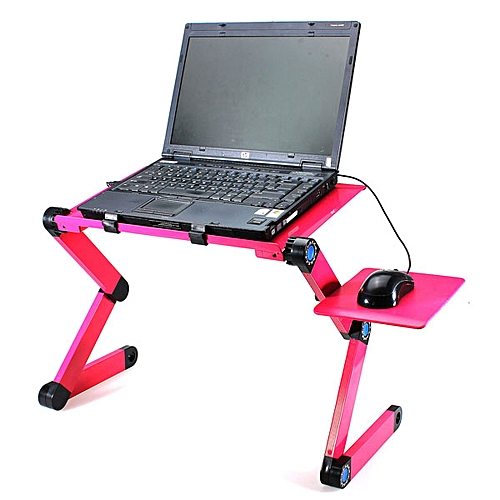 360? Foldable Laptop Desk Table Fans Stand Portable Desk Bed Sofa Tray+Mouse Pad