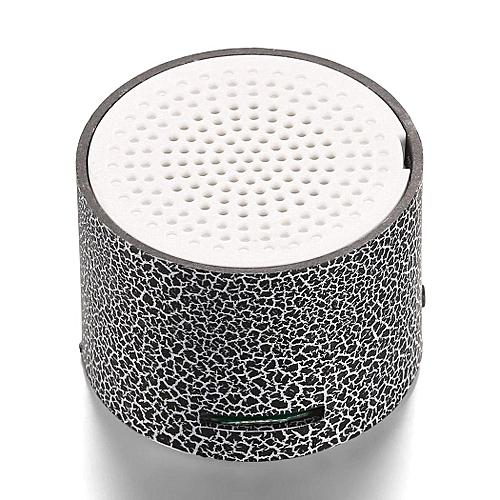 Mini Portable LED Speakers Wireless Hands Free Speaker With TF Port-Black