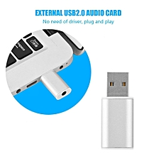 External USB Sound Card External USB 2.0 To 3.5mm Stereo Audio Sound Card Mic Adapter