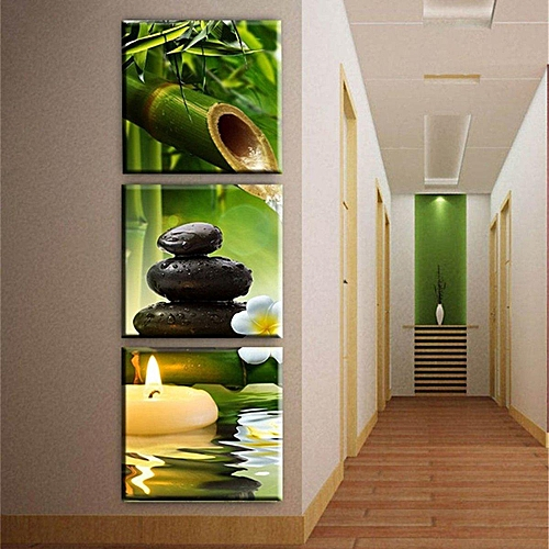 3pcs Modern Art Oil Painting Canvas Print Wall Pictures Home Room Decor Unframed