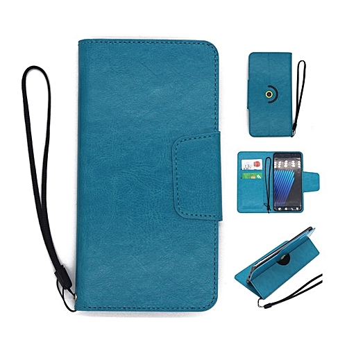 huge selection of fc46a 9891c Fashion Case Universal Rotating Ultra Slim Durable PU Leather Wallet Case  Cover For Infinix Note 5 Stylus 6.0 Inch (Blue)