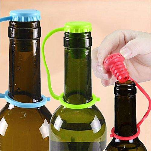 Honana Anti Lost Silicone Bottle Stopper Cork Hanging Button Wine Beer Cap Plug