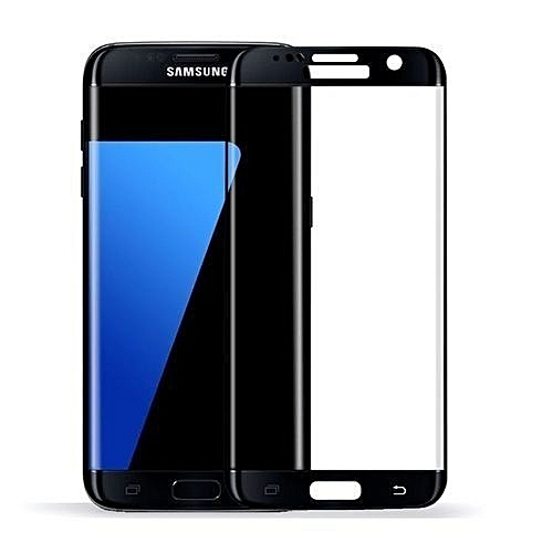 Generic Samsung Galaxy S7 Edge 3D Tempered Glass Screen Protector - Black
