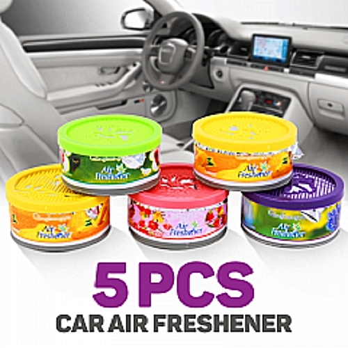 Universal Single Round Air Freshner- 5pcs Multi