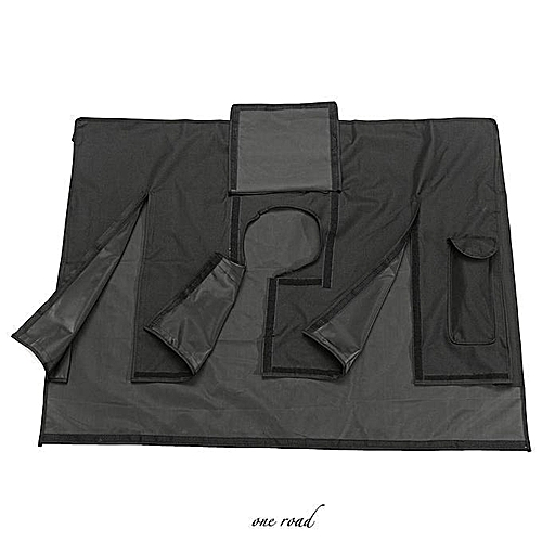 Black Waterproof Oxford Outdoor Cover For 55-58 Inch