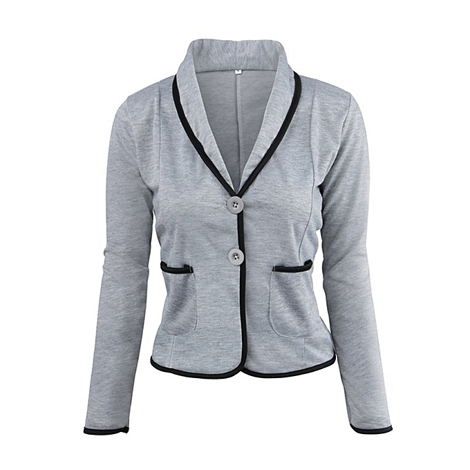 ae4595a9a5df0 Female Jacket Women Tops Autumn Winter Women Long Sleeve Cardigan Top Coat Light  Grey M