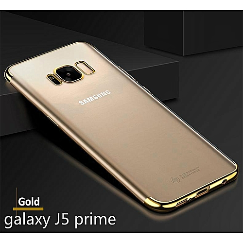 reputable site 032d1 9f83f For Samsung Galaxy J5 Prime Soft Case Ultra Thin Transparent Plating  Shining Casing For Samsung J5 Prime Case Antioxidant Cover Housing (Gold)