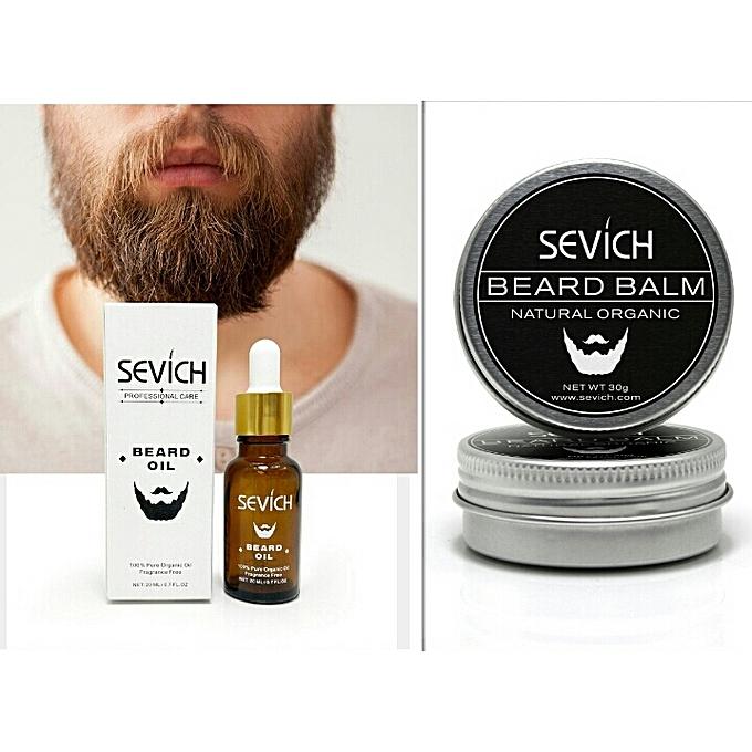 70c3209a1029 SEVICH Premium Hair Growth Beard Oil   Beard Balm For Men s Grooming ...