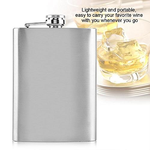 Stainless Steel Flask Pocket Bottle For Whiskey Liquor Wine Alcohol(8oz)