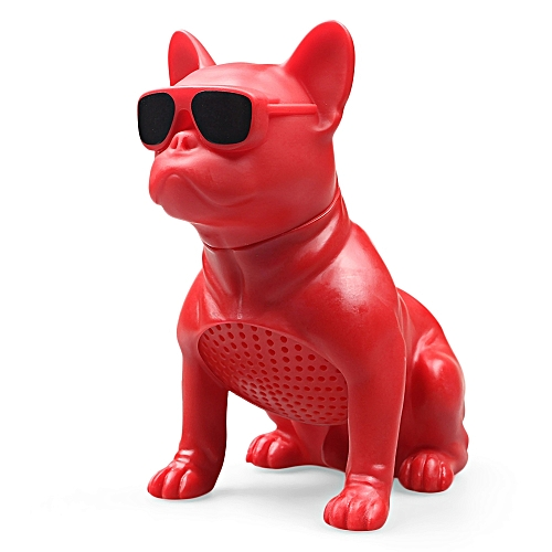 M10 Medium Bulldog Shape Bluetooth Speaker Portable Wireless Player-RED