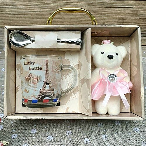 Creative Glasses-Cup With Bear Toy Set -