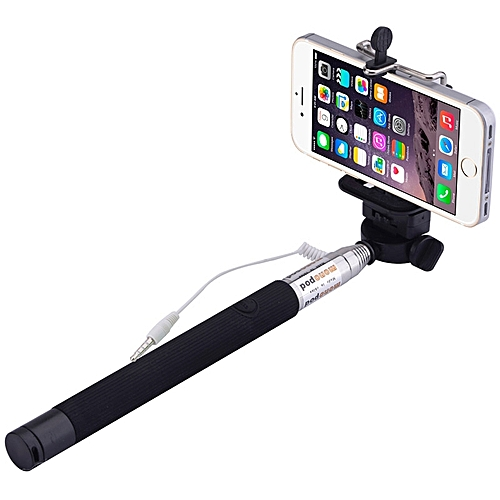 Extendable Selfie Stick & Monopod Holder (Headphone Jack) For Android And IOS Devices
