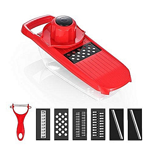 Mandoline Slicer Vegetable Cutter, 6 Interchangeable Blades With Peeler